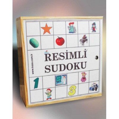 AHŞAP RESİMLİ SUDOKU